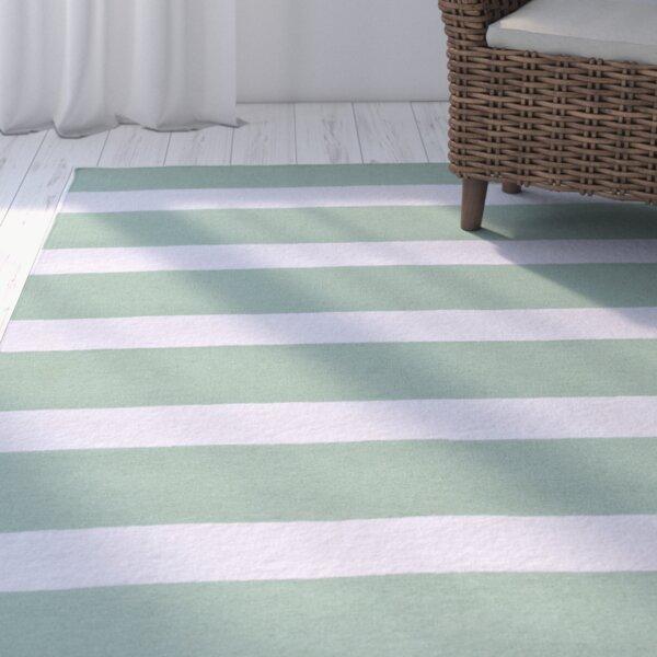 Peugeot Sea Foam/Ivory Indoor/Outdoor Area Rug by Beachcrest Home