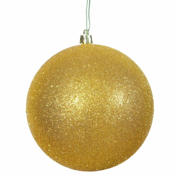 Gliter Christmas Ball Ornament with Cap (Set of 4) by The Holiday Aisle