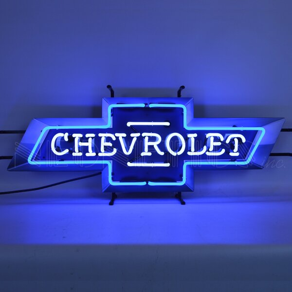 Chevrolet Bowtie with Backing Wall Light by Neonetics