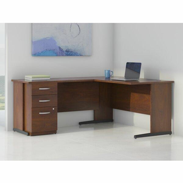 Series C Elite L-Shape Executive Desk with Storage by Bush Business Furniture