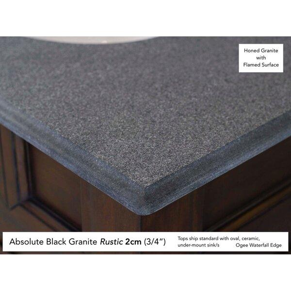 Deleon 60 Double Urban Gray Granite Top Bathroom Vanity Set by Darby Home Co