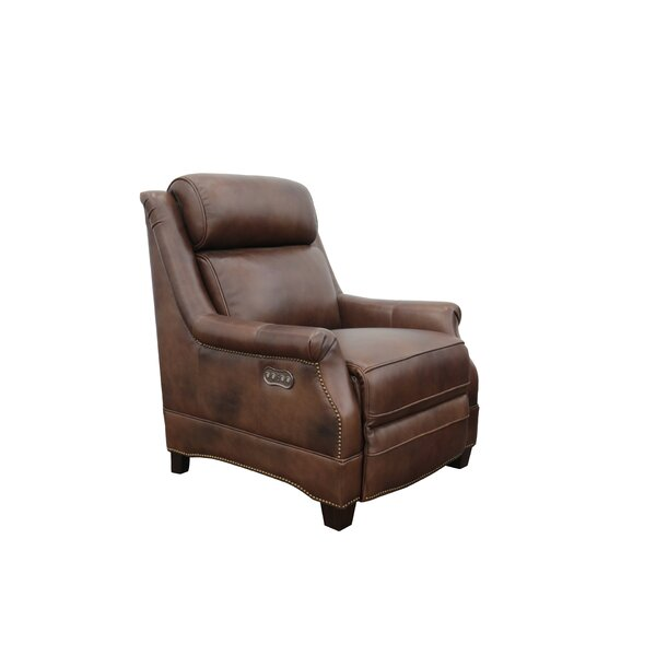 Charlotte Genuine Leather Power Recliner By Canora Grey