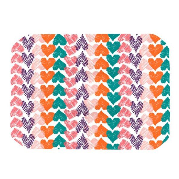 Hearts Placemat by KESS InHouse