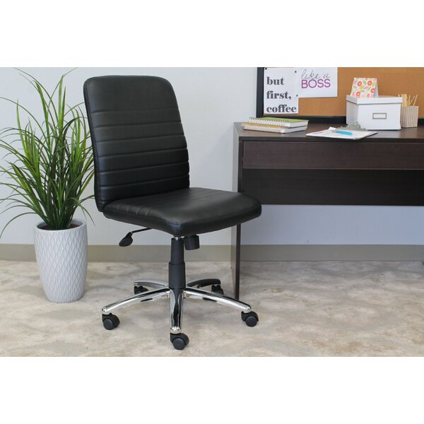 Contemporary Mid-Back Desk Chair by Symple Stuff