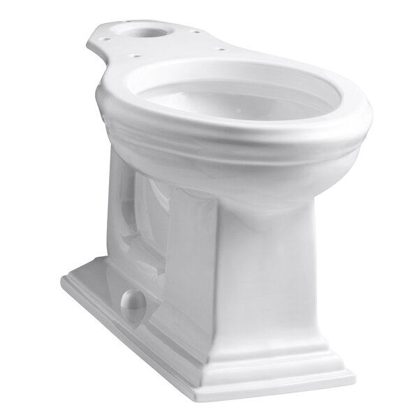 Memoirs 1.28 GPF (Water Efficient) Elongated Toilet Bowl with High Efficiency Flush (Seat Not Included) by Kohler