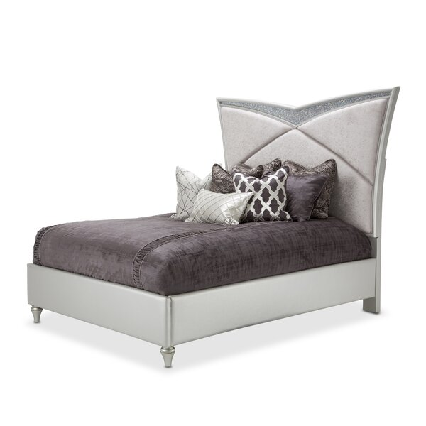 Melrose Plaza Upholstered Standard Bed by Michael Amini Michael Amini