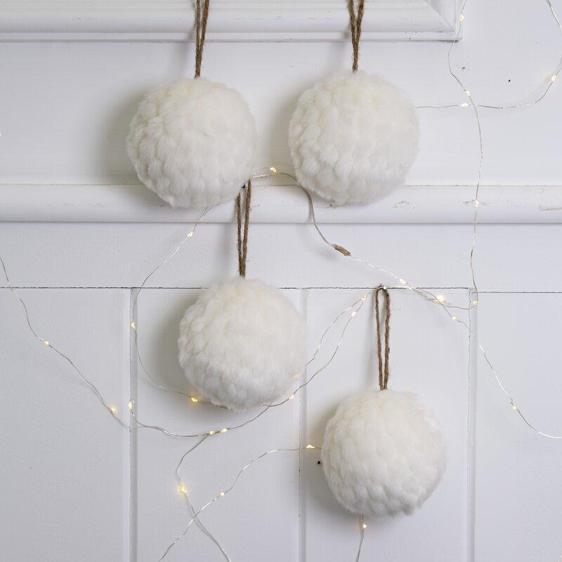 Plush Snow Ball Ornament