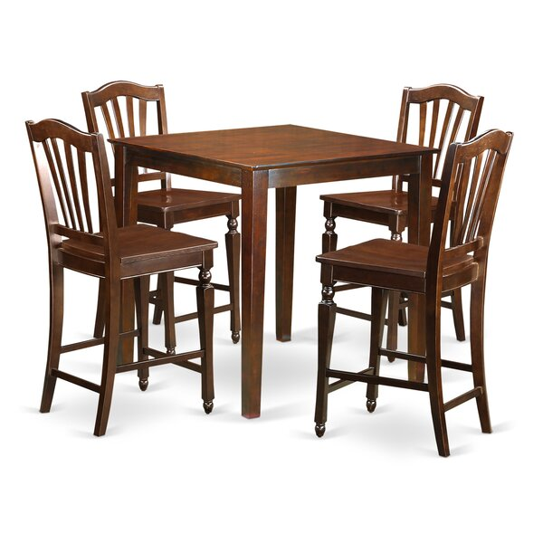 Neven 5 Piece Counter Height Pub Table Set by Charlton Home