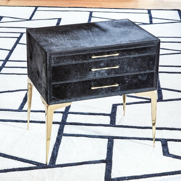 Stiletto Bedside 3 Drawer Accent Chest by Global Views