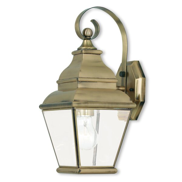 Weisberg 1-Light Outdoor Wall Lantern by Charlton Home