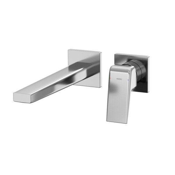 Single-Handle Long Wall-Mount Bathroom Faucet with Comfort Glide Technology