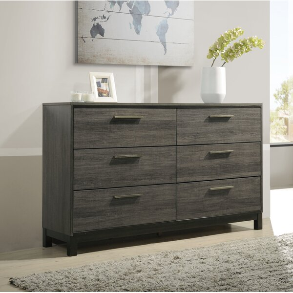Mandy 6 Drawer Double Dresser by Gracie Oaks