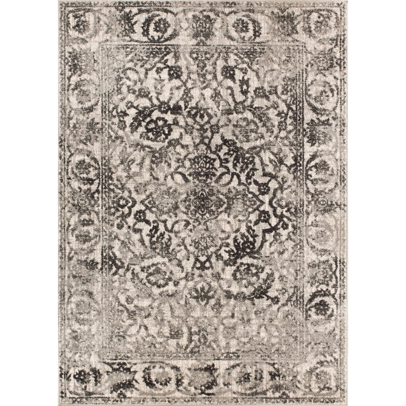Allentow Grey Area Rug by Bungalow Rose