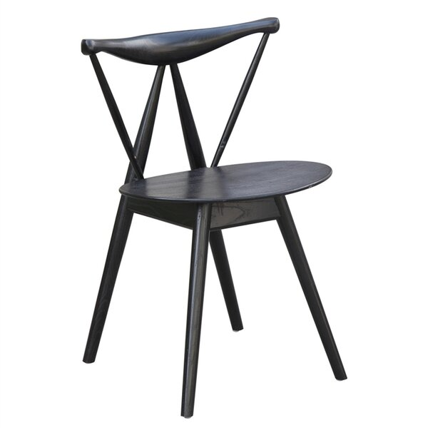 Jager Solid Wood Dining Chair by Wrought Studio