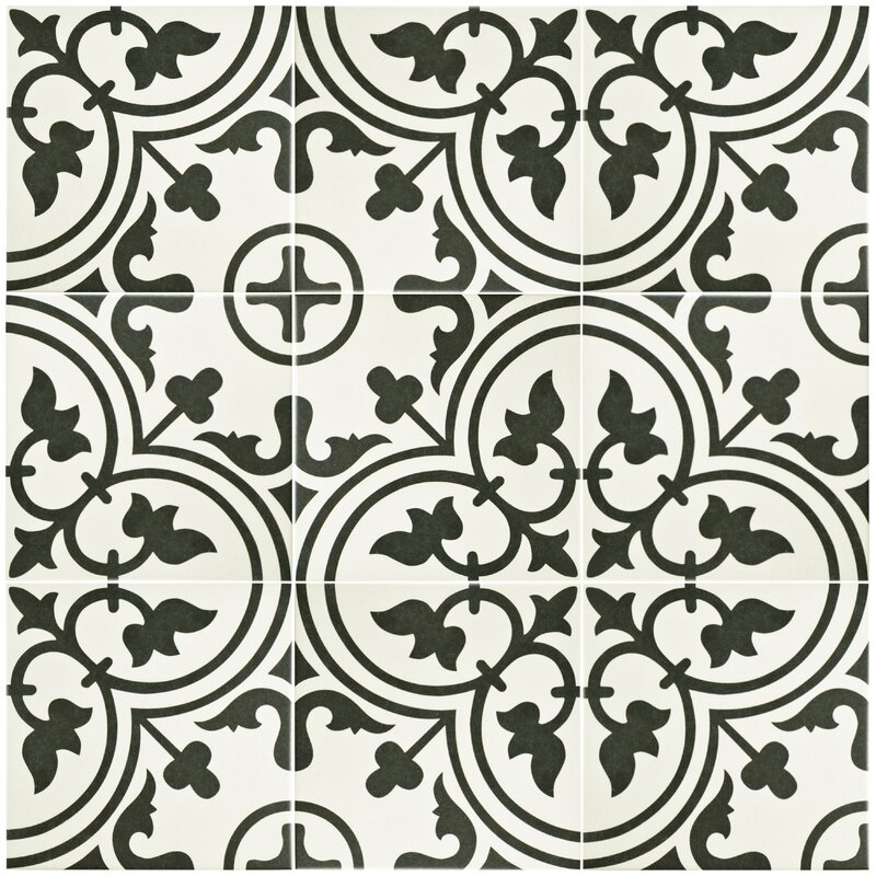"Old Kitchen Tile: EliteTile Artea 9.75"" X 9.75"" Porcelain Field Tile In"