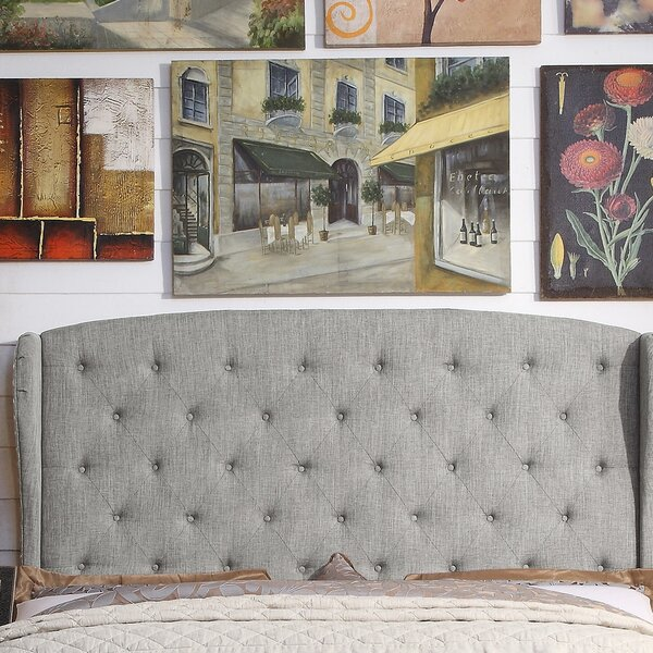 Siebert Upholstered Wingback Headboard by Winston Porter