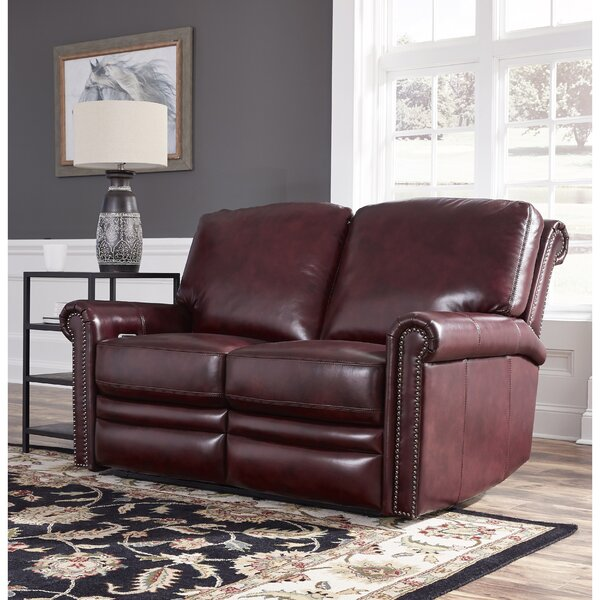 Barris Leather Reclining Loveseat by Canora Grey