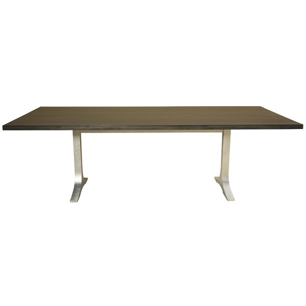 Burnished Fusco Straight Edge Solid Wood Dining Table by Brayden Studio