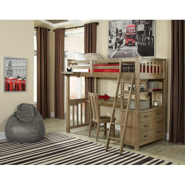 Bedlington Loft Bed with Drawers by Greyleigh