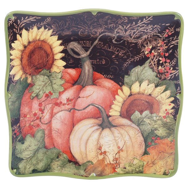 Botanical Harvest Square Platter by Certified International