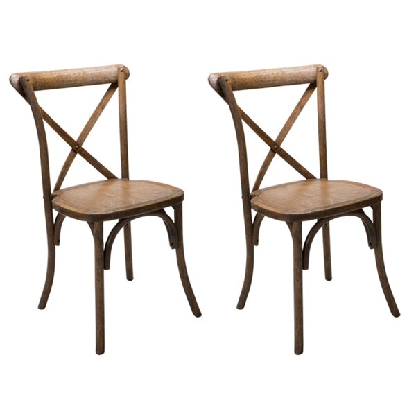 Dunaird Xback Farm Solid Wood Dining Chair (Set of 2) by Gracie Oaks