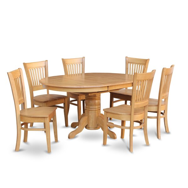 Spurling 7 Piece Extendable Solid Wood Dining Set by August Grove