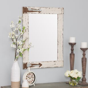 Best Reviews Kist Farmhouse Wall Mirror By Ophelia & Co.