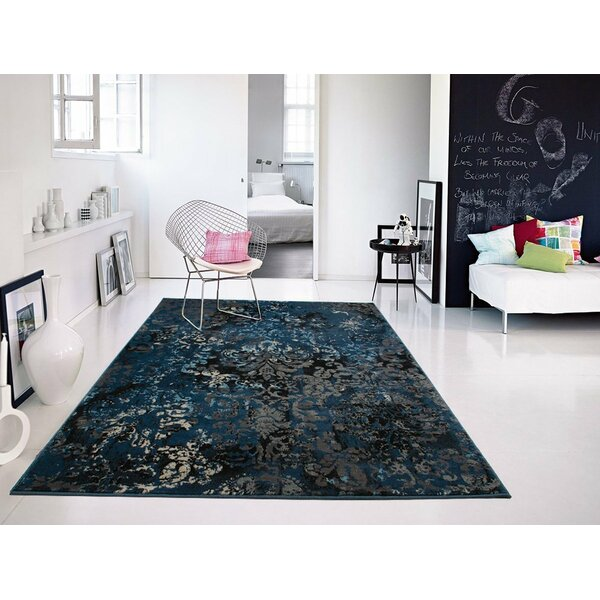 Gullickson Foyer Gray/Blue Area Rug by Williston Forge