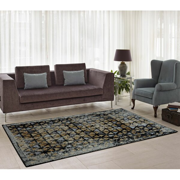 Finley Gold Area Rug by Ebern Designs