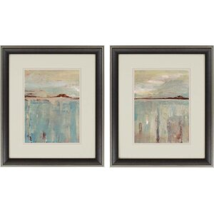 'Horizon' 2 Piece Framed Painting Print Set by Brayden Studio