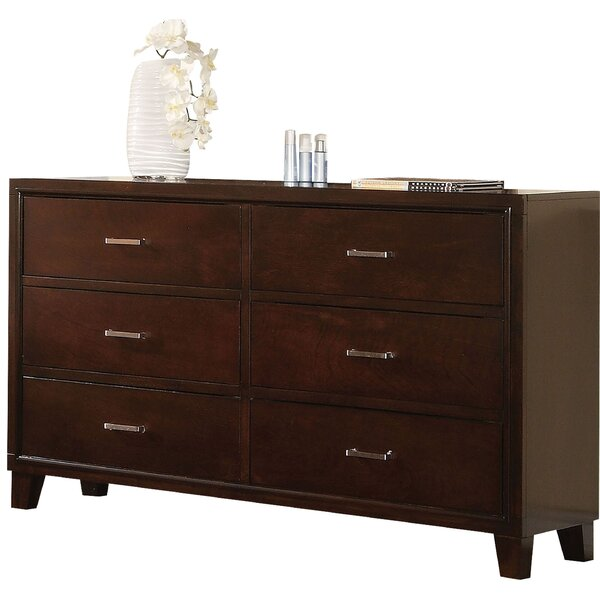 Altha Wooden 6 Drawer Bachelors Chest by Winston Porter