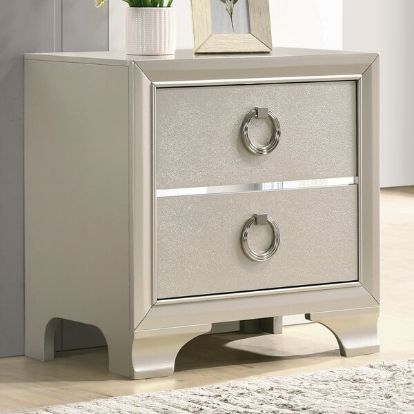 Carpen 2 Drawer Nightstand by House of Hampton