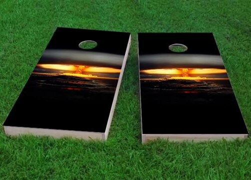 Nuclear Bomb Explosion Cornhole Game (Set of 2) by Custom Cornhole Boards