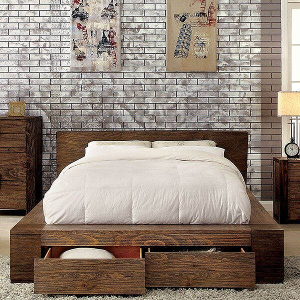 Bushman Storage Platform Bed by Union Rustic