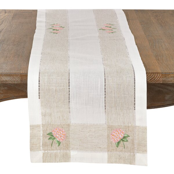 Beagley Hydrangea Hemstitched Table Runner by August Grove