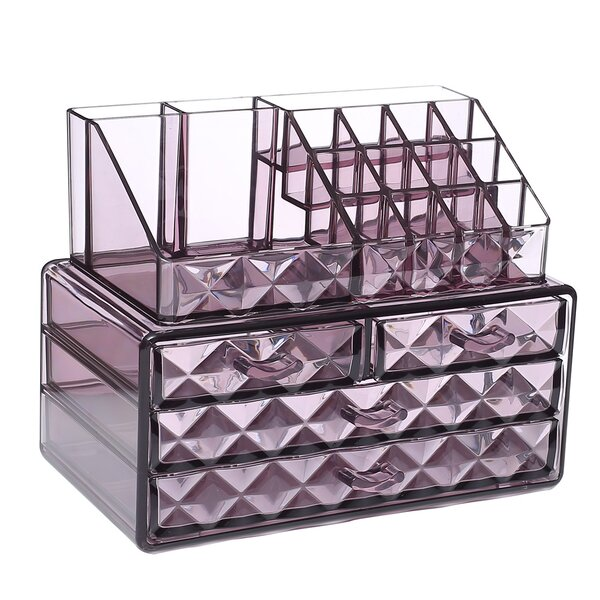 Diamond Pattern Display Cosmetic Organizer by Rebrilliant