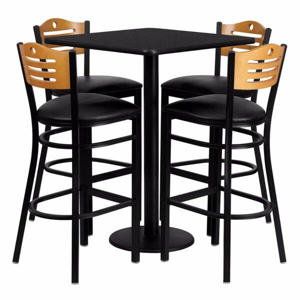 Plattville 5 Piece Pub Table Set by Red Barrel Studio
