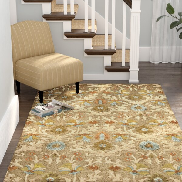 Parker Lane Hand-Tufted Wool Moss/Beige Area Rug by Darby Home Co
