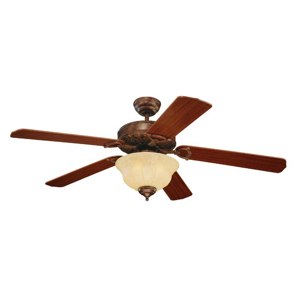52 Beaudet 5 Blade Ceiling Fan by Fleur De Lis Living