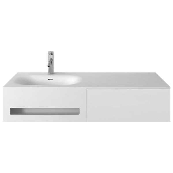 Pierce 47 Single Wall-Mounted Bathroom Vanity Set by George Oliver