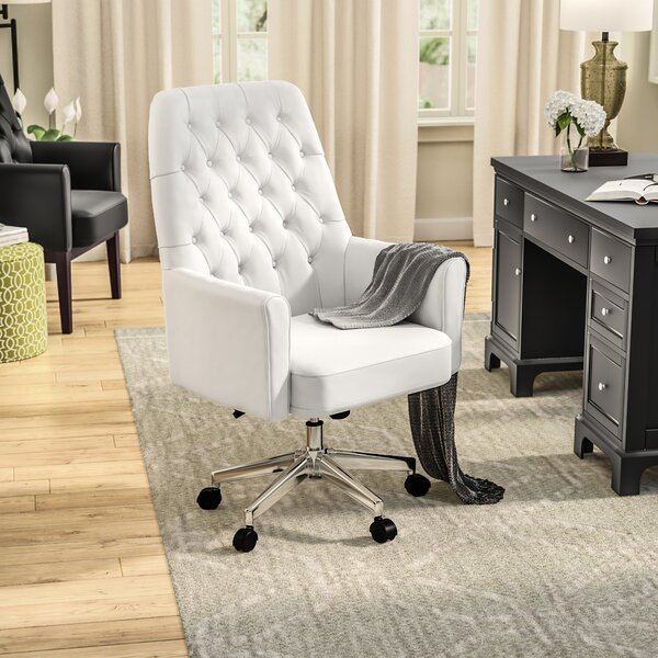 Broadwell Village Traditional Tufted Swivel High-Back Executive Chair by Alcott Hill