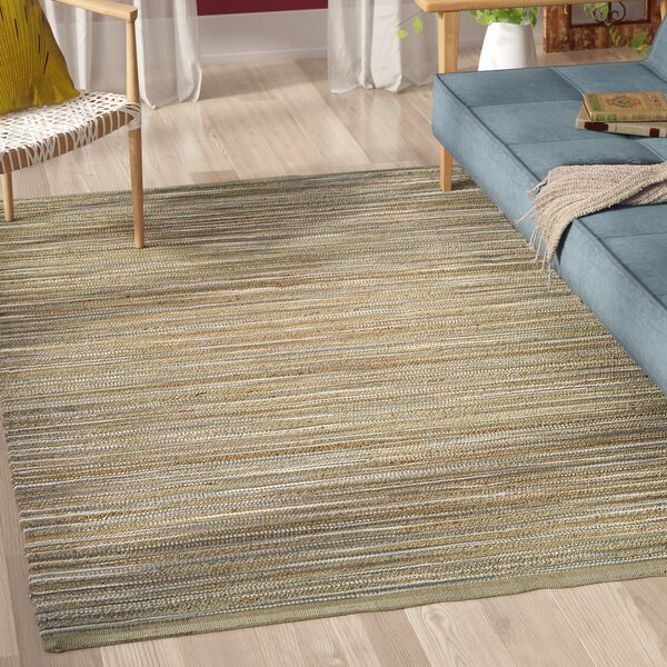 Yvaine Hand-Loomed Taupe/Gray/Ivory Area Rug by Highland Dunes