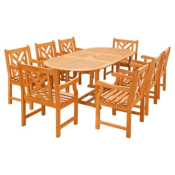 Seven Piece Outdoor Dining Set with Oval Table by Vifah
