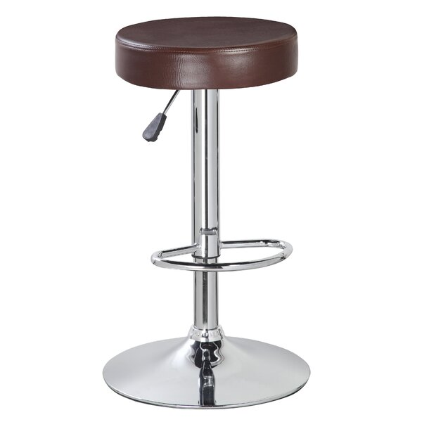 Vandusen Adjustable Height Swivel Bar Stool (Set of 2) by Latitude Run