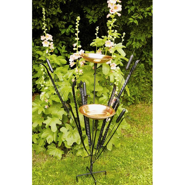 Double Cattail Birdbath by ACHLA