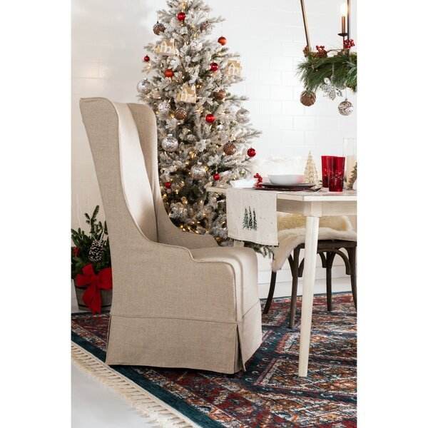 Bacall Upholstered Parsons Chair In Cherry By Darby Home Co