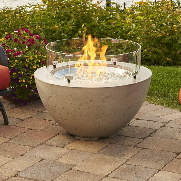 Cove Concrete Gas Fire Pit by The Outdoor GreatRoom Company
