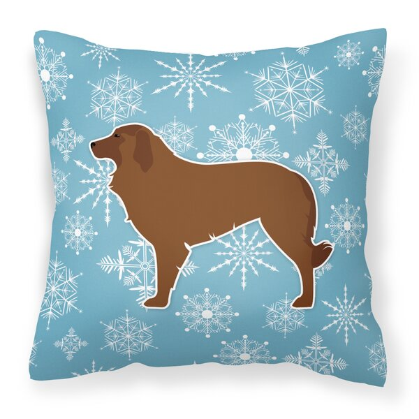Winter Snowflakes Indoor/Outdoor Throw Pillow by East Urban Home
