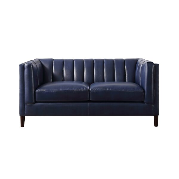 Cournoyer Leather Standard Loveseat by Corrigan Studio