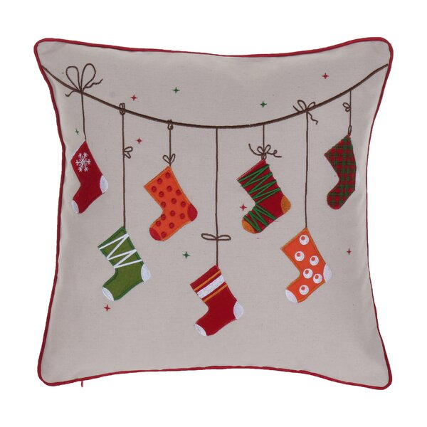 Broadlands Christmas Stocking Throw Pillow by Alcott Hill